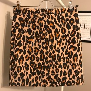 Boohoo Cheetah Pencil Skirt